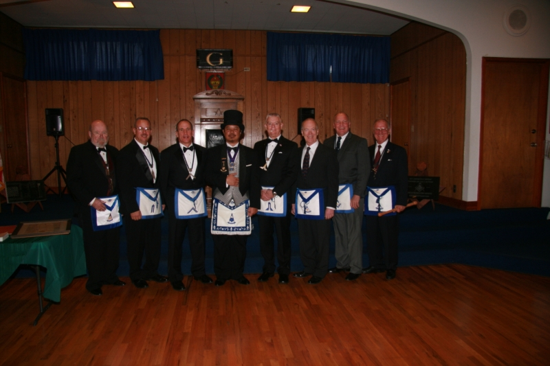 2016 Lodge Officers with Installing Master Dale Palileo