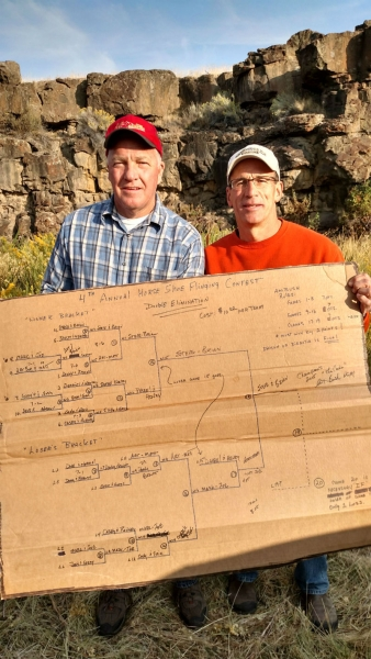 Team Karpstein and Canady win the Malheur Cave horse shoe flinging contest!