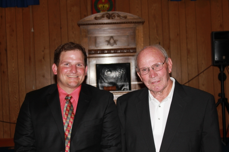 Bro Brasher and his grandfather, Bill, a several-times Past Master in California